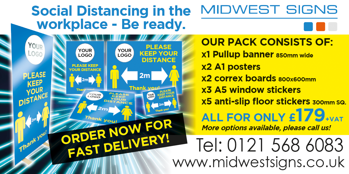 Covid-19 Signage - Walsall, Wolverhampton & Cannock